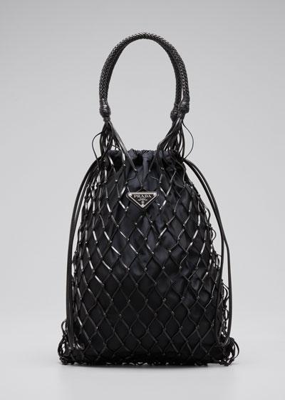 Rete Net Top Handle Bag