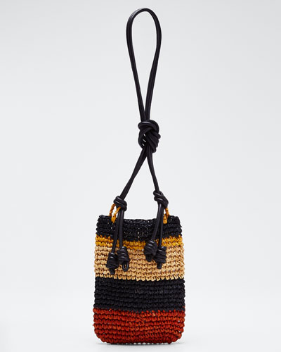 Raffia Sefina Phone Holder Bag