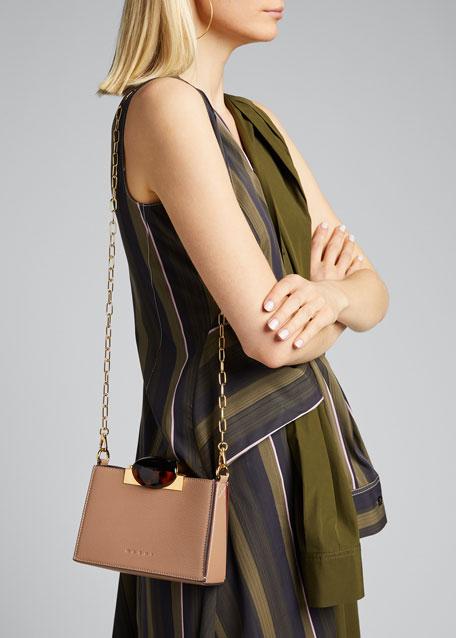 Galet Leather Crossbody Bag