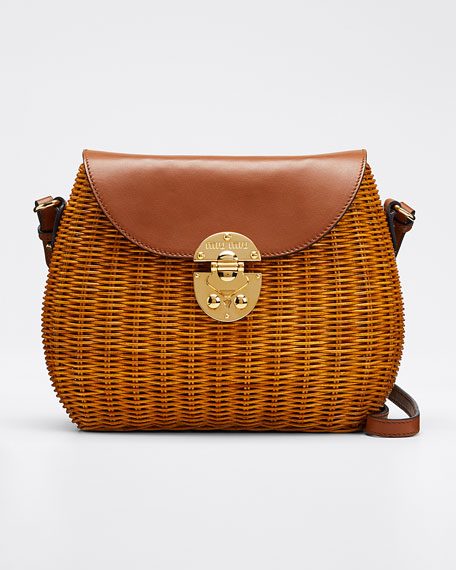 Midollino Large Buckle Shoulder Bag