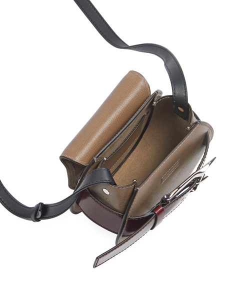 Buckle Mini Crossbody Bag, Taupe