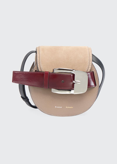 Buckle Mini Crossbody Bag  Taupe