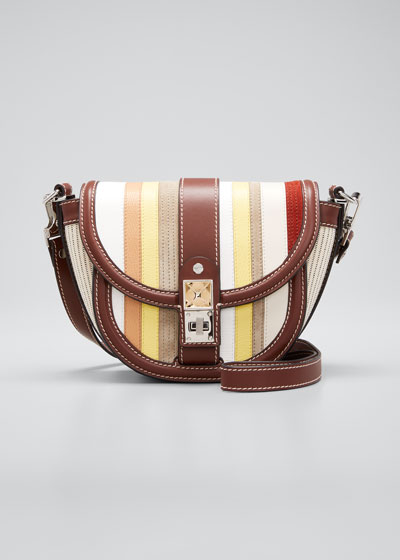 PS11 Small Saddle Patchwork Shoulder Bag