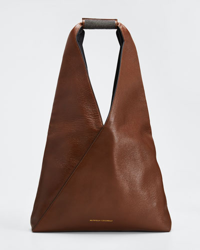 Leather Monili Hobo Bag