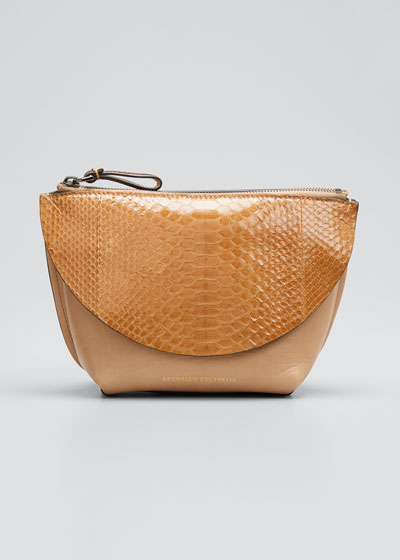 Python Convertible Belt Crossbody Bag