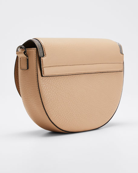 Leather Flap-Top Shoulder Bag
