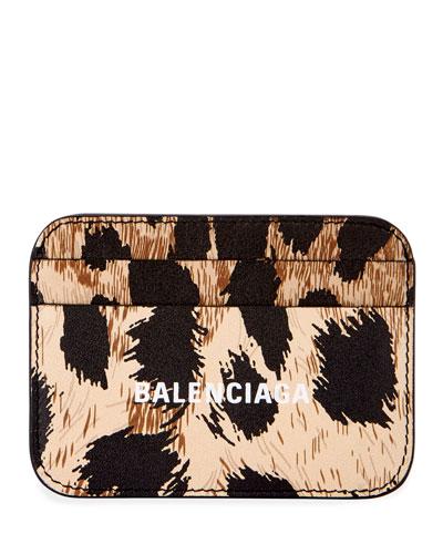 Leopard-Print Cash Card Holder