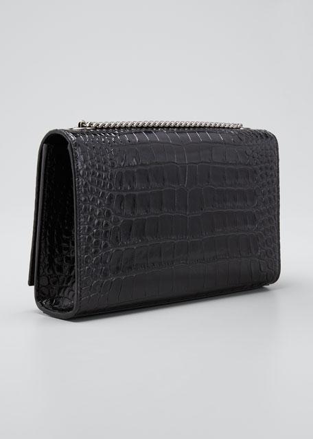 Kate Medium Mock-Croc Leather Crossbody Bag