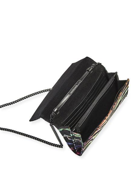 Monogram YSL Small Lurex Wallet on Chain