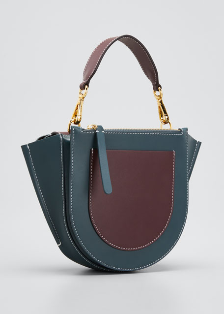 Hortensia Bicolor Mini Top-Handle Bag