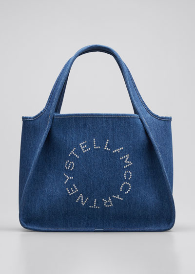 Denim Logo Tote Bag