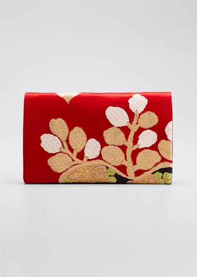 Paulownia Et Chrysanthemes Clutch Bag