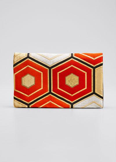 Harmonie Rouge Et Or Clutch Bag