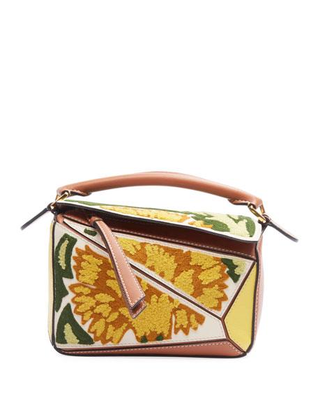 Puzzle Floral Mini Satchel Bag