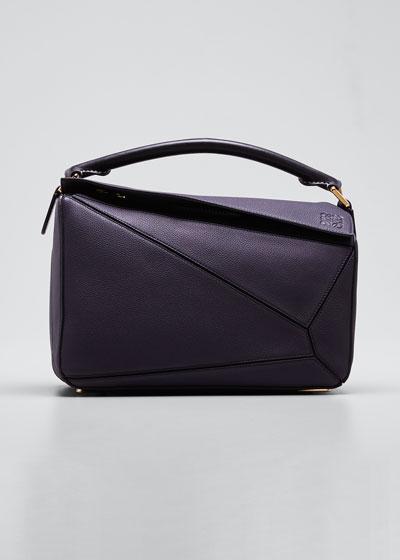 Puzzle Leather Satchel Bag