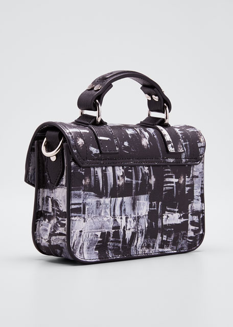 Ps1 Micro Printed Leather Top-Handle Bag