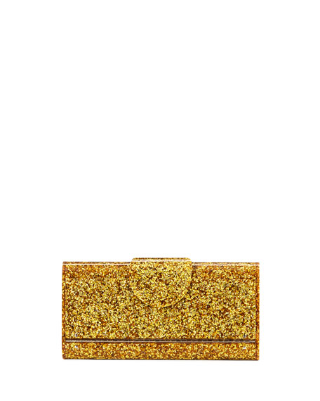 Large Lara Glitter Iceless Clutch Bag