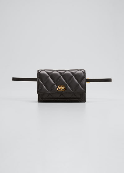 Sharp Quilted Fanny Belt Bag