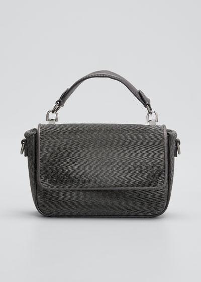Textured Leather Shoulder/Belt Bag