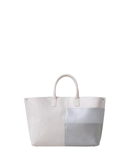 Ai Medium Patchwork Shoulder Tote Bag