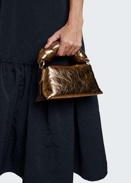 Metallic Top Handle Bag