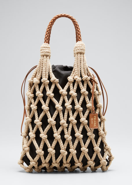 Rete Corda Rope Net Top-Handle Bag