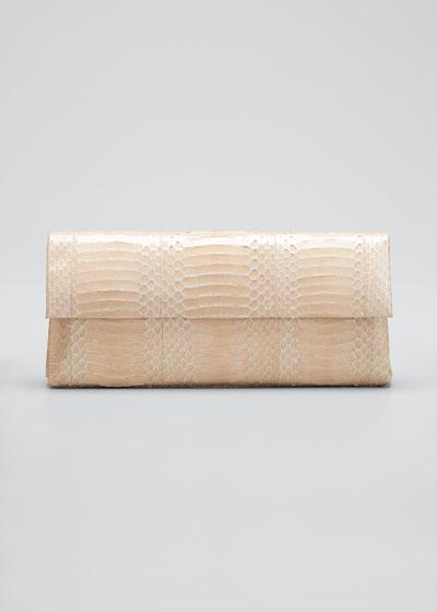 Gotham Medium Snakeskin Clutch Bag