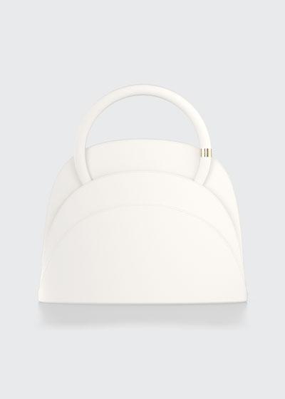 Millefoglie M Mini Leather Top Handle Bag