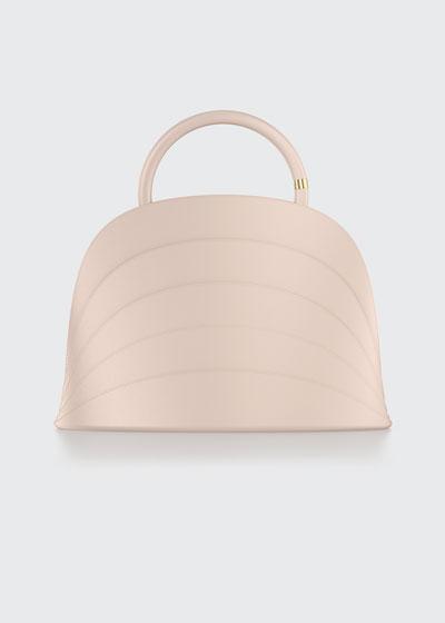 Millefoglie J Leather Top Handle Bag