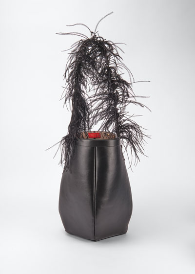 By Your Side Ostrich Feather Hobo Bag