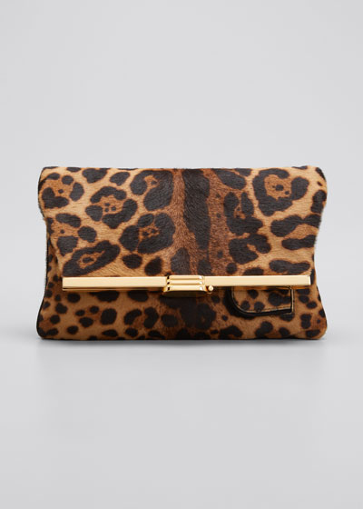 Regine Holographic Leopard Minaudiere Bag