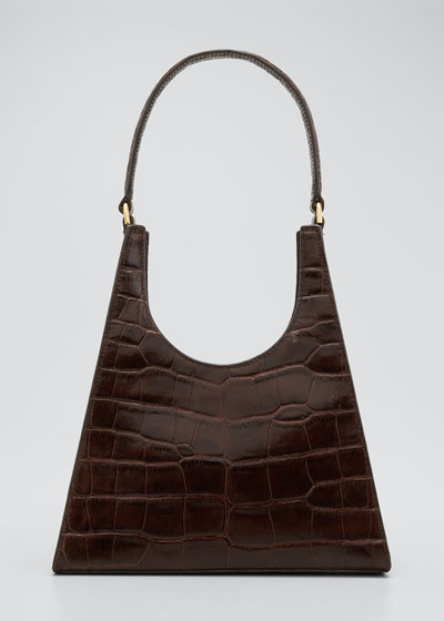 Rey Croc-Embossed Hobo Bag