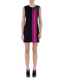 Jersey Interlock Striped Dress