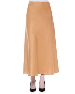 A-Line Charmeuse Maxi Skirt