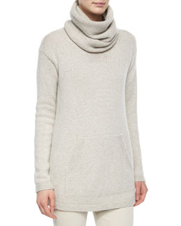 Winterland Slouchy Cashmere Turtleneck Sweater