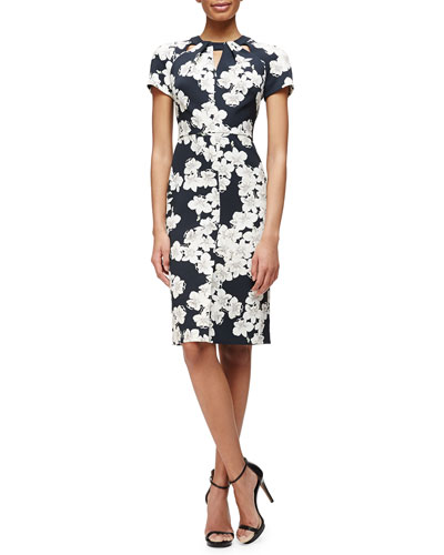 Camila Floral-Print Twisted Dress