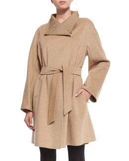 Cashmere Woven Reversible Wrap Coat