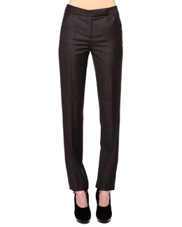 Mini-Houndstooth Slim-Fit Trouser