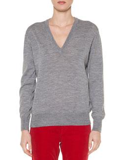 Slub-Knit Merino Pullover