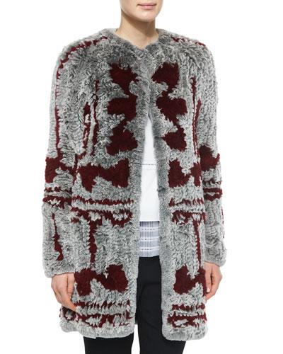 Two-Tone Fur Cardigan