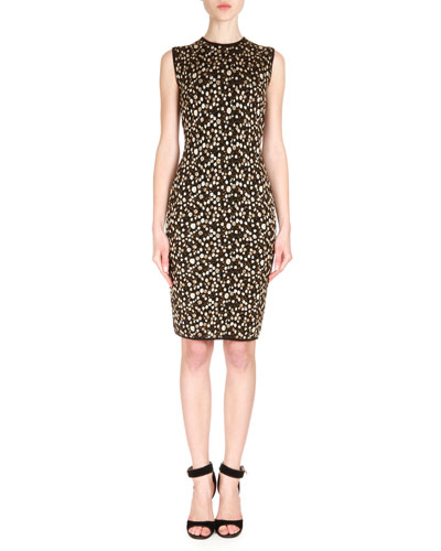 Baby's Breath-Printed Sheath Dress