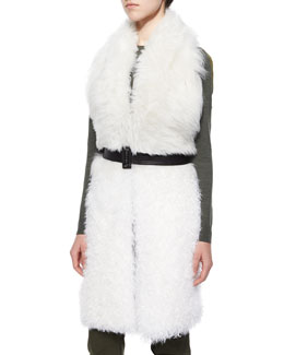 Constable Sleeveless Shearling Fur Jacket