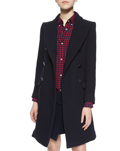 Carey Double-Breasted Wool-Blend Coat