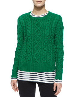 Nilsen Cable-Knit Wool Sweater