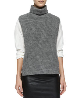 Lazuli Sleeveless Turtleneck Sweater