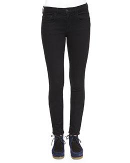 Ultra-Skinny Denim Jeans, Black
