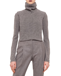 Chain-Knit Turtleneck Collar Dickey