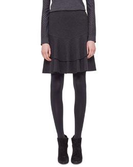 Tiered Flounce Jersey Skirt