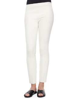 Stretch-Scuba Skinny Ankle Pants
