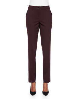 Tapered Slim-Ft Pants, Aubergine
